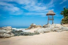 Recurso tropical Puerto Vallarta A melhor praia em México Opinião do Oceano Pacífico fotos de stock royalty free
