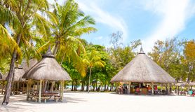 Recurso turístico Cerfs da ilha auxiliar de Ile Fotos de Stock