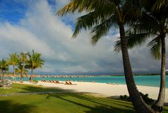 Recurso turístico Bora Bora, Polinésia francesa Foto de Stock Royalty Free