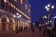Recurso Venetian nivelando, Macau S da cópia do palácio do ` s do doge do casino de Macau A r Imagens de Stock Royalty Free