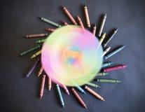 Recursos coloridos do projeto das ceras do fundo do redemoinho Imagens de Stock Royalty Free