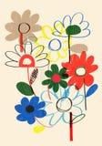 Recursos coloridos do projeto das flores da mola Imagens de Stock Royalty Free