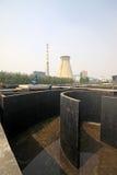 Recursos del edificio de trabajos del tratamiento de aguas residuales imagenes de archivo