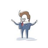 Recursos humanos del hombre de negocios, longitud de Cartoon Character Full del hombre de negocios ilustración del vector