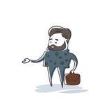 Recursos humanos del hombre de negocios, longitud de Cartoon Character Full del hombre de negocios stock de ilustración