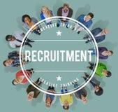 Recursos humanos del reclutamiento que emplean concepto del empleo Imagen de archivo