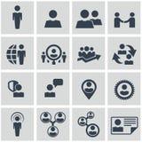 Recursos humanos e ícones da gestão ajustados. foto de stock royalty free