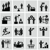 Recursos humanos e ícones da gestão ajustados. fotografia de stock royalty free