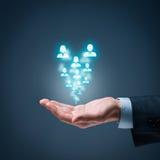 Recursos humanos e cuidado do cliente Imagens de Stock