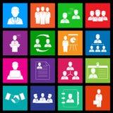 Recursos humanos e iconos de la gestión. Estilo del metro Fotos de archivo