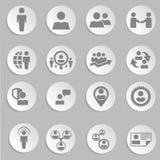 Recursos humanos e iconos de la gestión fijados. Foto de archivo libre de regalías