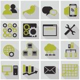 Recursos humanos e iconos de la gestión fijados Imágenes de archivo libres de regalías