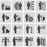 Recursos humanos e iconos de la gestión fijados. Imagen de archivo libre de regalías