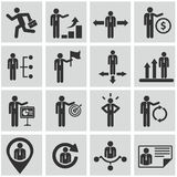 Recursos humanos e iconos de la gestión fijados. Fotografía de archivo libre de regalías