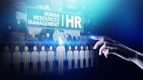 Recursos humanos, gestión de la hora, reclutamiento, talento querida, concepto del negocio del empleo imagen de archivo