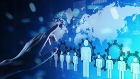 Recursos humanos, gestión de la hora, reclutamiento, talento querida, concepto del negocio del empleo imágenes de archivo libres de regalías