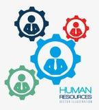 Recursos humanos, ilustração do vetor Fotografia de Stock Royalty Free