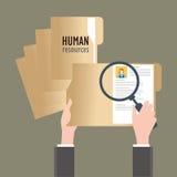 Recursos humanos, ilustração do vetor Foto de Stock Royalty Free