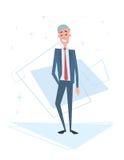 Recursos humanos mayores del hombre de negocios, longitud de Cartoon Character Full del hombre de negocios libre illustration