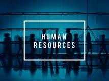 Recursos humanos que emplean concepto corporativo del empleo Fotografía de archivo libre de regalías