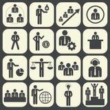 Recursos humanos y sistema del icono de la gestión Imagenes de archivo