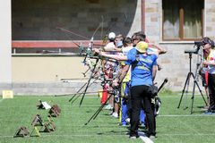 Recurve bow archery competition Royalty Free Stock Photos