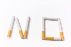 Recusa dos cigarros Fotografia de Stock Royalty Free