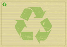 Recyclabe horizontal background Stock Photos