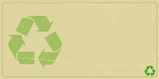 Recyclabe horizontal invitation Royalty Free Stock Photography
