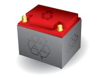 Recyclable car battery Stock Photo