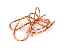 Recyclable copper wire Stock Photos