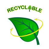 Recyclable Leaf Indicates Earth Friendly And Eco Royalty Free Stock Image