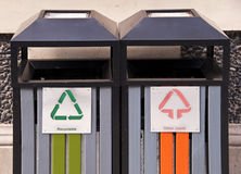 Recyclable  litter bins Stock Image