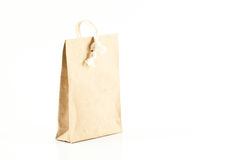 Recyclable paper bag isolated Royalty Free Stock Photography