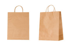 Recyclable paper bags isolated on white. Background Royalty Free Stock Image