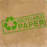 Recyclable paper symbol Stock Photo