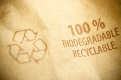 Recyclable pictogramme printed - arrows Stock Photography