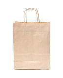 Recyclable; reusable brown paper bag. Recyclable; reusable brown paper shopping carrier bag Stock Photography
