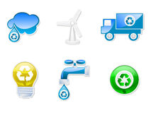 Recyclable symbols collection Stock Photography