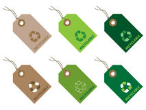 Recyclable tags Royalty Free Stock Images