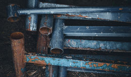 Recyclables. Old construction fittings Royalty Free Stock Image