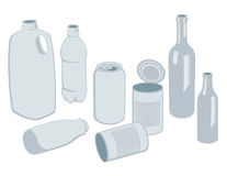 Recyclables Vector. Vector illustrations created in Adobe Illustrator of recyclable materials Stock Image