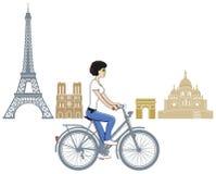 Recyclage à Paris illustration libre de droits
