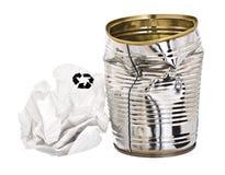 recyclage au sujet des déchets Images libres de droits
