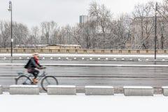 Recyclage dans la neige Photographie stock libre de droits