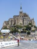 Recyclage devant le Mont Saint Michel Photos libres de droits