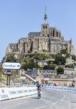 Recyclage devant le Mont Saint Michel Images stock