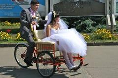 Recyclage drôle de mariage Photos stock