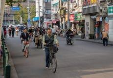 Recyclage sur la route de Sichuan à Changhaï photo libre de droits