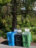 Recycle是在旧金山认真采取的  免版税库存图片